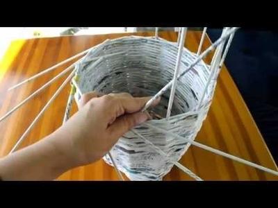 Jak zrobić wazon.doniczkę z wikliny papierowej Instrukcja