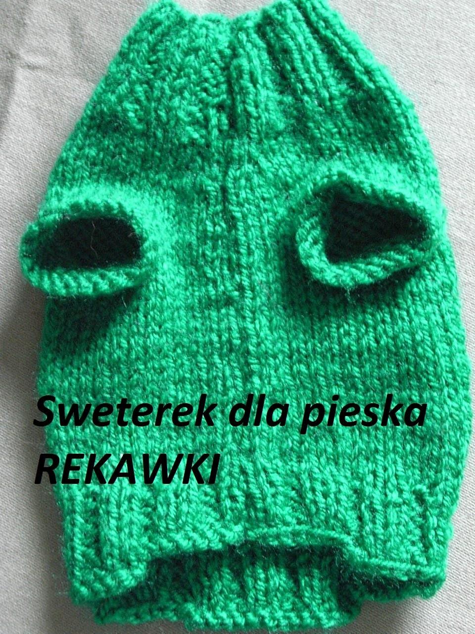 Robótki na drutach Sweterek dla pieska* Otwór na łapki*Knitting Tutorial Handarbeit