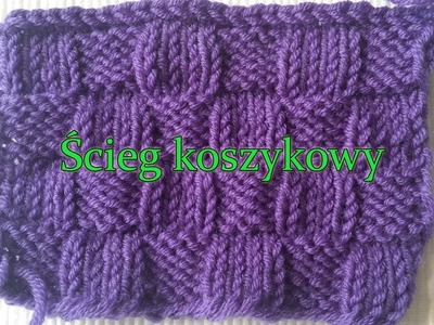 Ścieg koszykowy - ściegi na druty, na swetry.