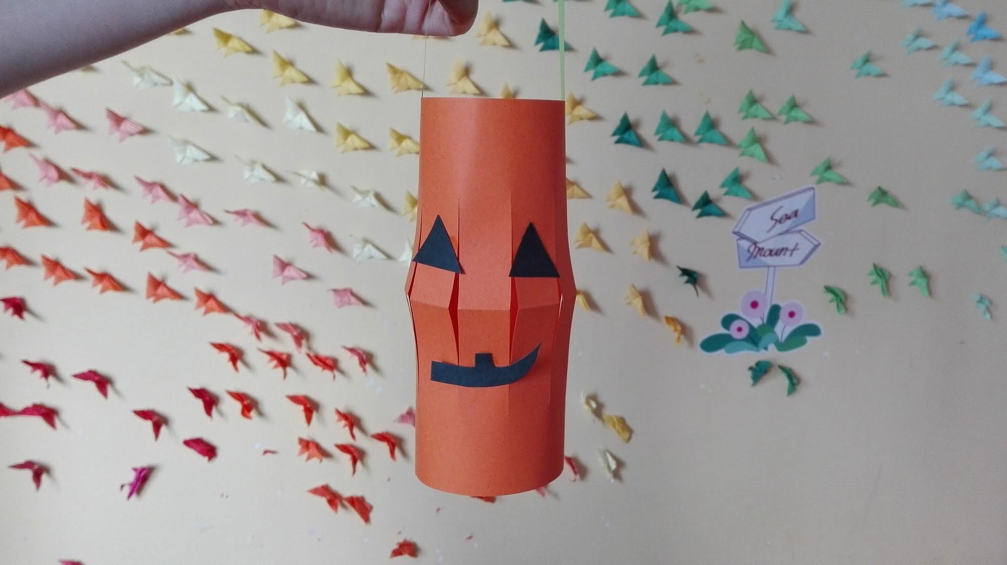 Jak zrobić Dyniowy Lampion z Papieru. How to make a Paper Pumpkin Lantern