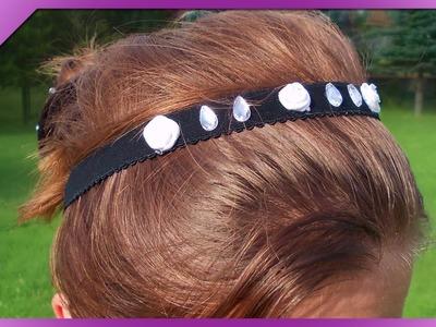 DIY Ozdoba do włosów, opaska. Hair ornament, headband (+ENG Annotations) - Na szybko #23