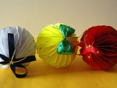 Bombka z papieru. Christmas ball  DIY