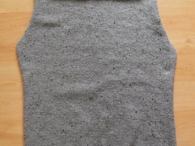 Sweter męski na drutach part 1 jak zrobić tył