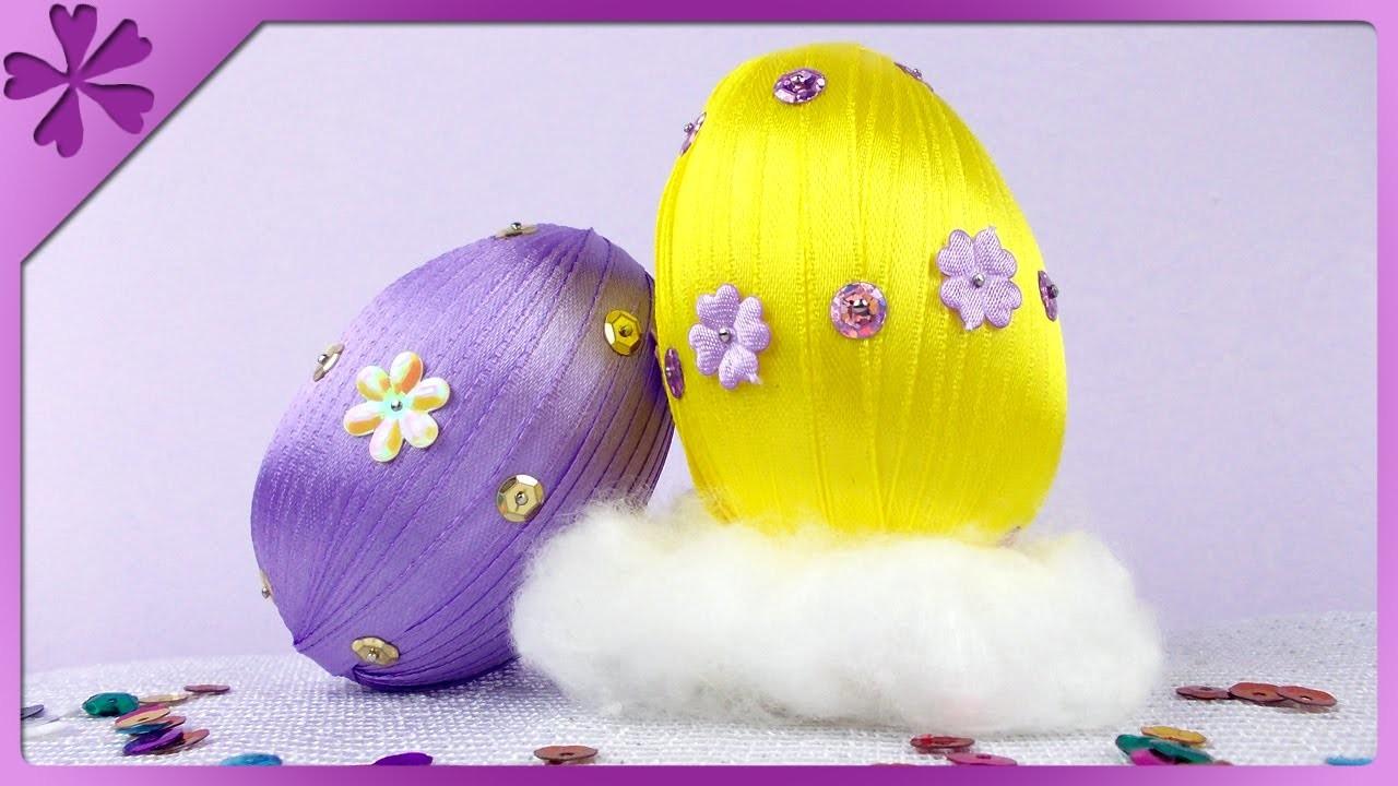 DIY Pisanki z tasiemki. Ribbon Easter Eggs (+ENG Annotations) - Na szybko #70