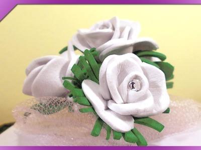 DIY Mini różyczki z pianki. Mini foam roses (+ENG Annotations) - Na szybko #19