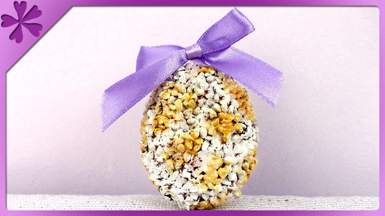 DIY Pisanka z kaszy. Groats Easter Egg (+ENG Annotations) - Na szybko #76