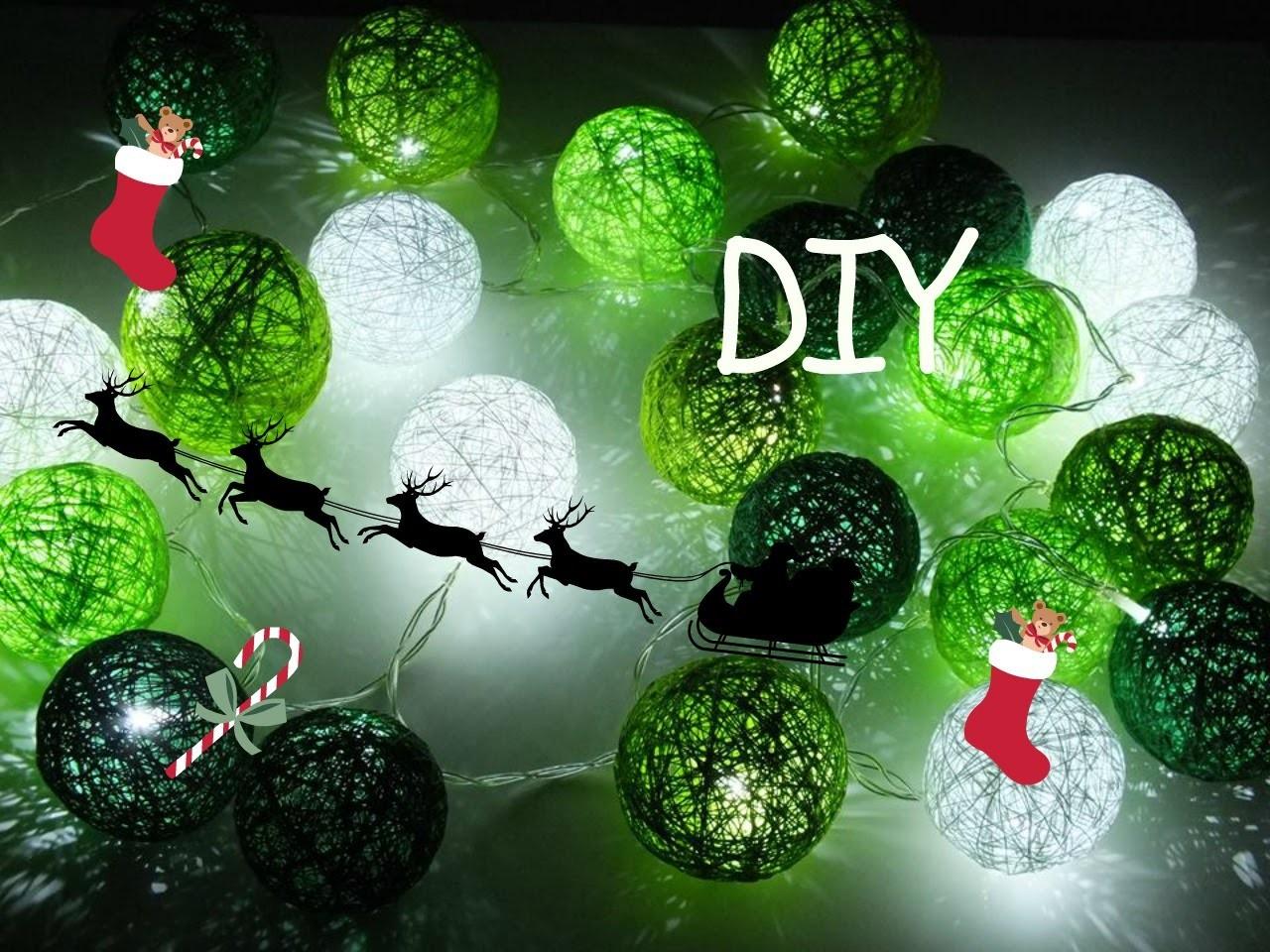 Idą Święta #pomysł na prezent DIY. Cottonballs lights