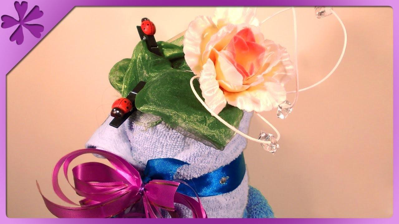 DIY Tort z ręczników. Towel cake (+ENG Annotations) - Na szybko #26