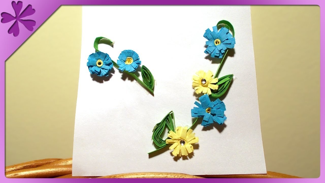 DIY Małe kwiatuszki, quilling. Small flowers, quilling (+ENG Annotations) - Na szybko #11