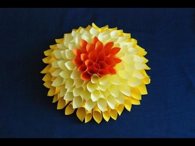 Jak zrobić papierową dalię. How to make a paper dahlia - Timelapse