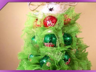 DIY Choinka z cukierków. Candy Christmas tree (+ENG Annotations) - Na szybko #37