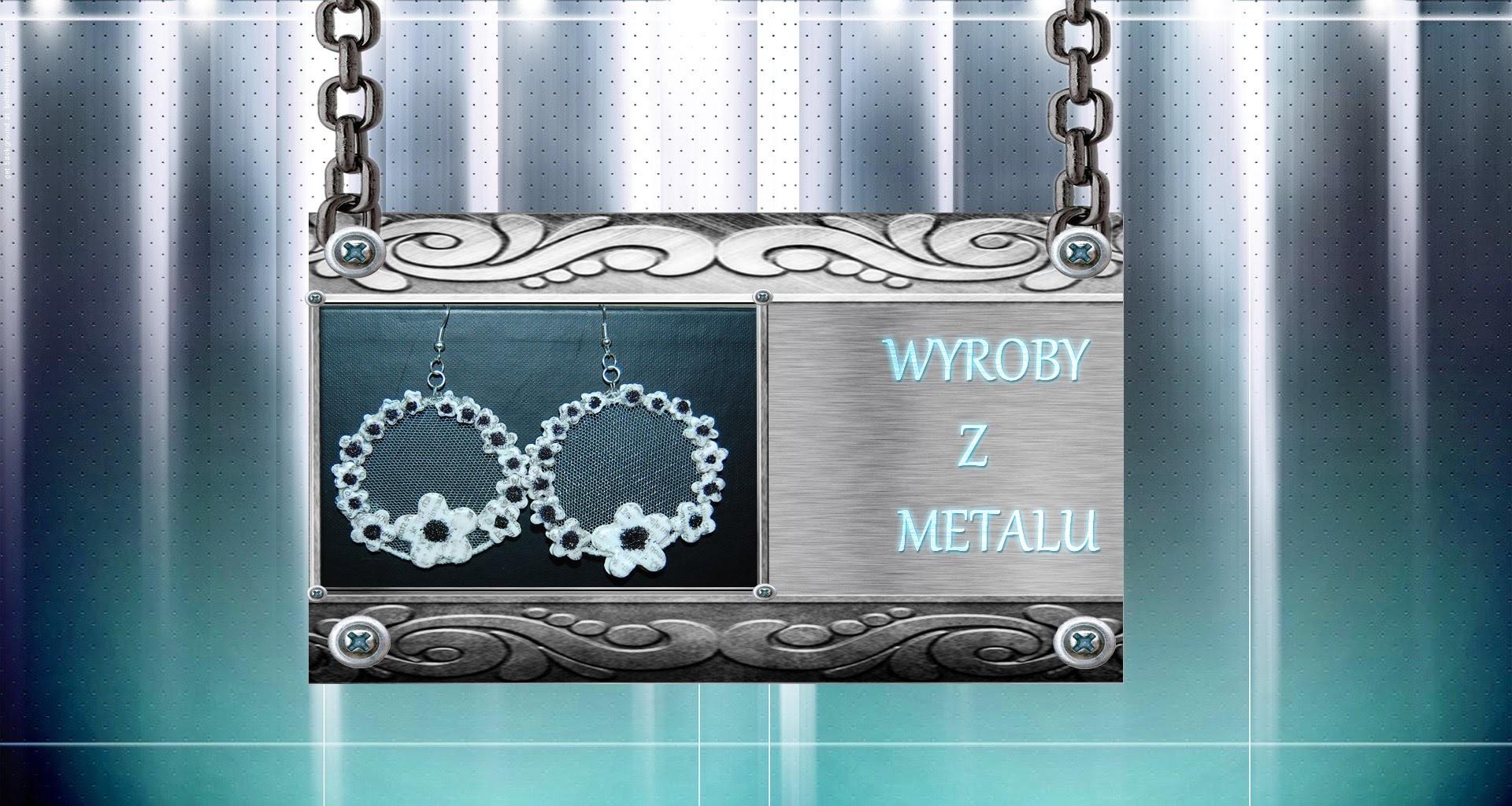 Wyroby z metalu: Kolczyki kwiatuszki TUTORIAL, hardware, earrings flowers, made hand , polymer clay