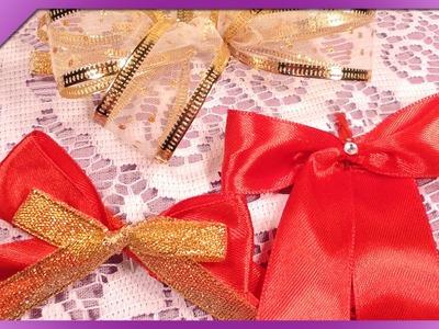 DIY Kokardki ze wstążki. Ribbon bows (+ENG Annotations) - Na szybko #34