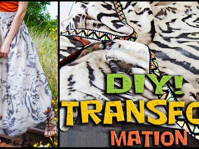 DIY. SCARF transformation into a  MAXI SKIRT! Jak z szala.chusty uszyć długą spódnicę. Zrób to sama!
