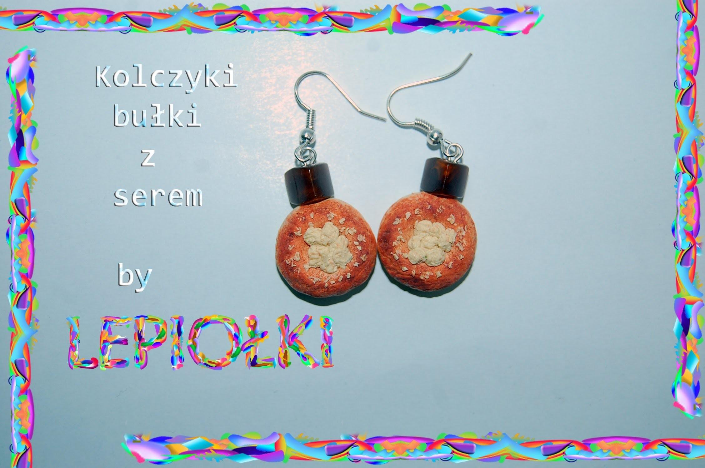 Lepiołki: Bułka z serem TUTORIAL roll of cheese,polymer clay, made hand,  Miniature Food