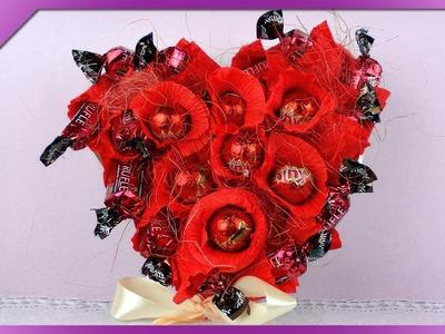 DIY Serce z cukierków. Candy heart (+ENG Annotations) - Na szybko #55