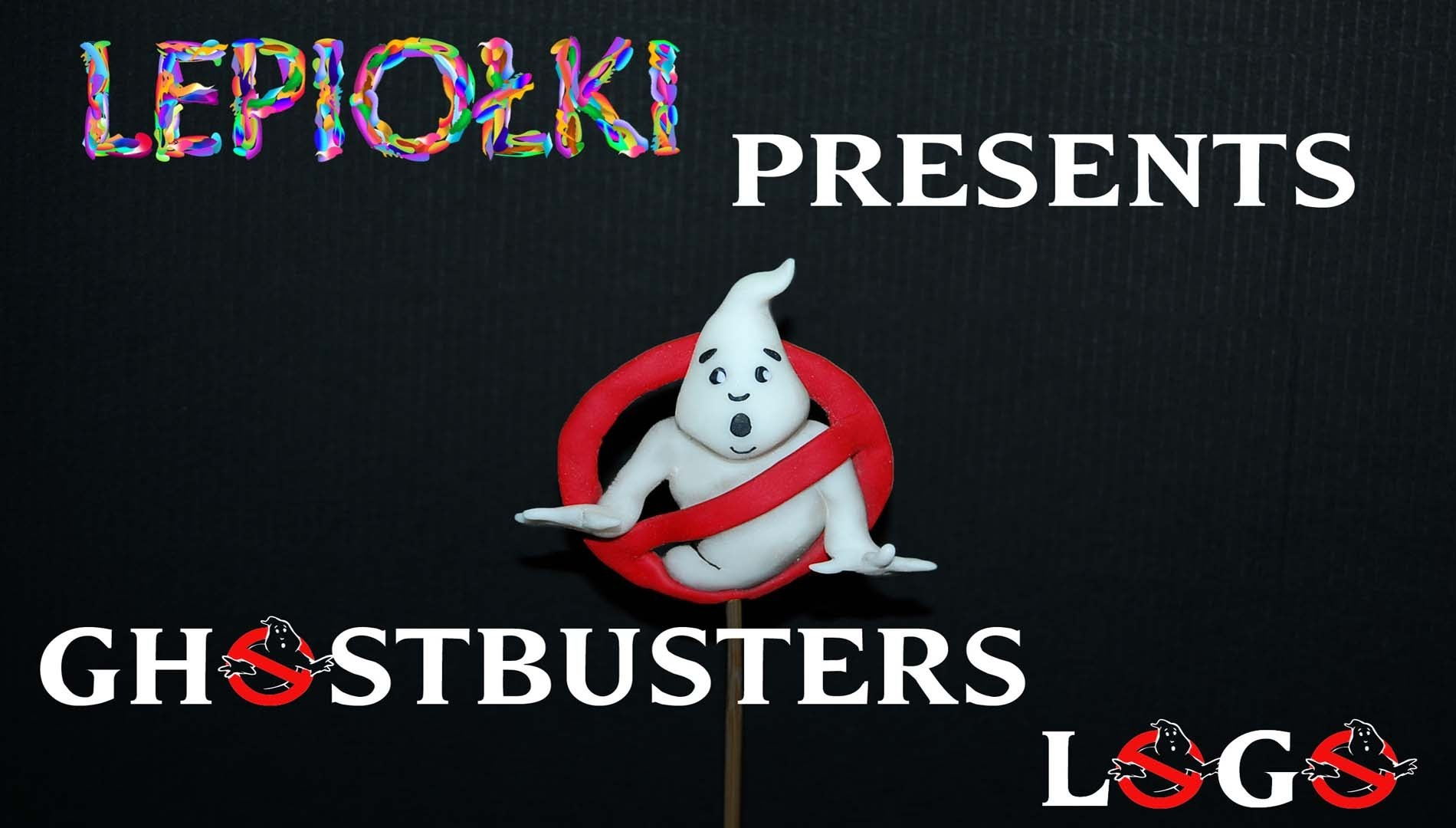 Halloween tutorial: Ghost Busters Logo polymer clay  made hand