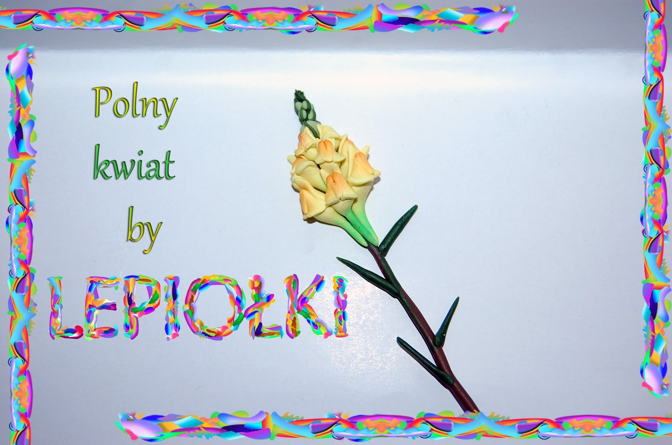 Lepiołki: Polny kwiat 2 TUTORIAL Flower field 2 , polymer clay, made hand