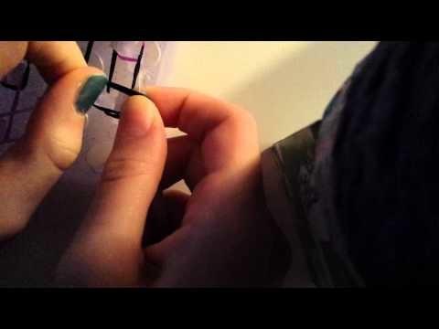 RAINBOW LOOM: Jak zrobić najprostszą pojedynczą bransoletkę.