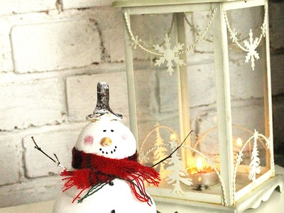 Świąteczny bałwanek z masy solnej DIY. Christmas DIY
