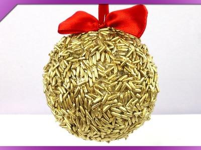 DIY Bombka z ryżu. Rice Christmas ball (+ENG Subtitles) - Na szybko #155