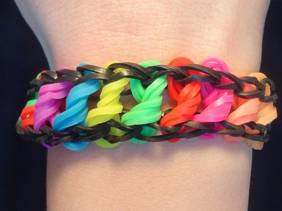 Bransoletka z gumek. Rainbow Loom. Loom Bands. jak zrobić. How to