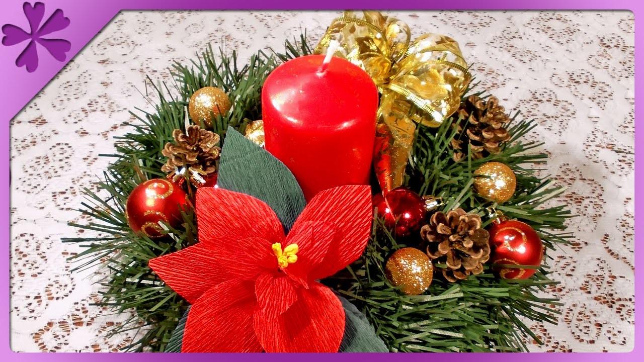 DIY Stroik bożonarodzeniowy. Christmas centerpiece (+ENG Annotations) - Na szybko #42