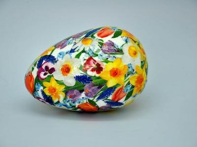 Pisanka decoupage w kwiatki # Easter egg DIY