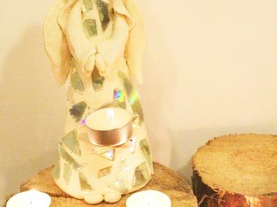 Aniołek święta, świeczka DIY.salt dough christmas