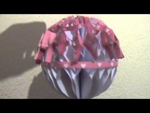 Bombka z papieru DIY