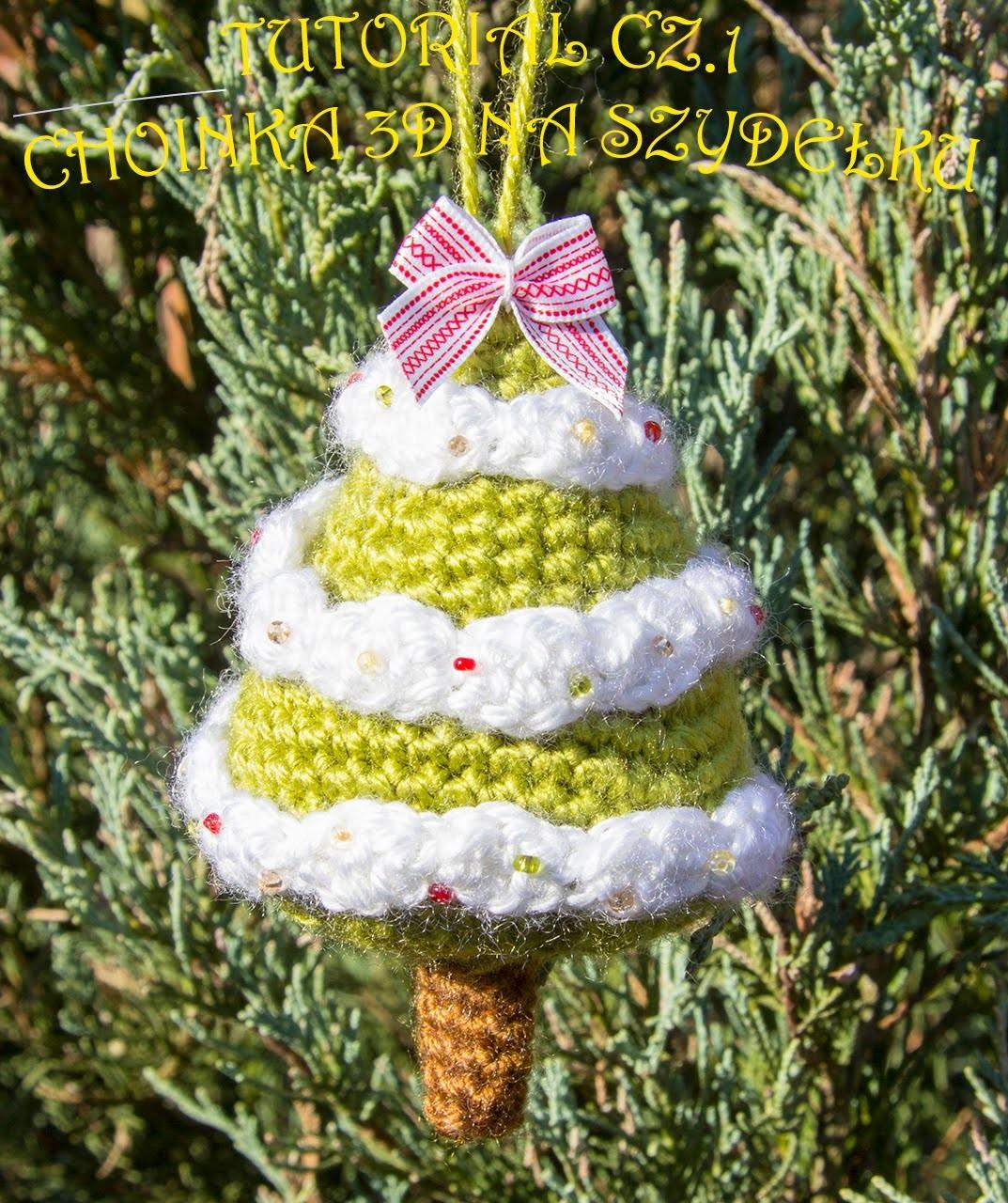 Choinka na szydełku 3d cz.1 tutorial (crochet christmas tree 3D part 1)