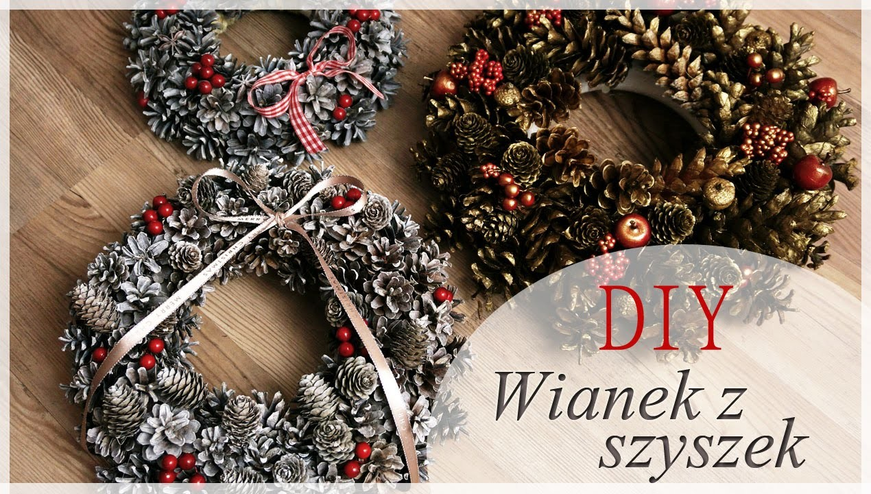 *DIY* Wianki z szyszek - pomysł na tani prezent świąteczny :)