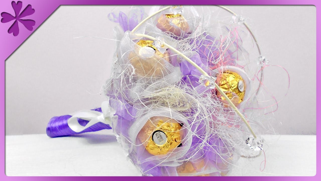 DIY Bukiet z Ferrero Rocher. Ferrero Rocher bouquet (+ENG Annotations) - Na szybko #65