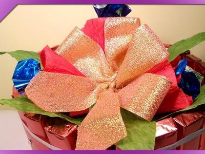 DIY Tort z czekoladek. Chocolate bar cake (+ENG Annotations) - Na szybko #25