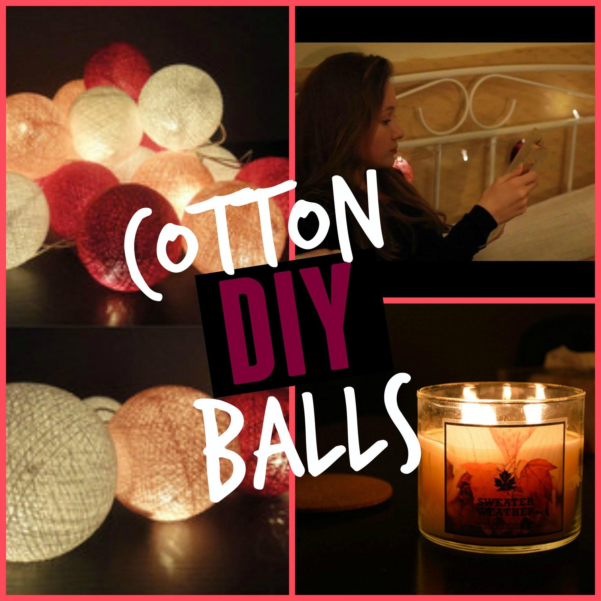 Cotton Ball Lights DIY ♡ Zrób to sam