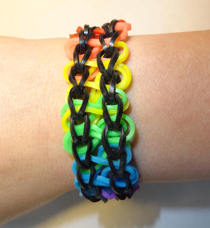 Double Infinity Armband, Bransoletka z gumek, Rainbow Loom, Loom Bands, How to, Jak zrobić
