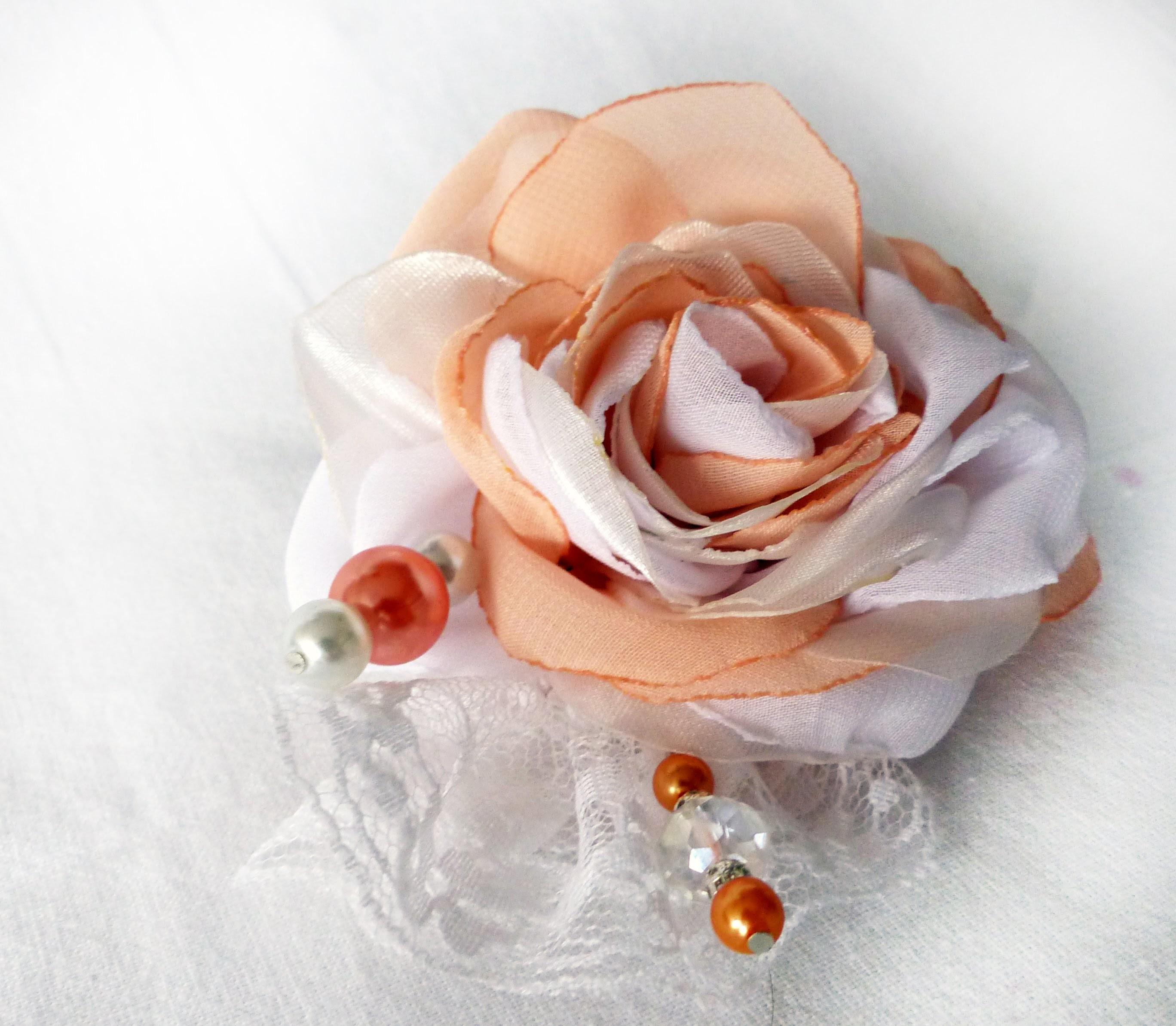 How to make fabric rose jak zrobić róża z materiału satynowa Роза из Ткани DIY tutorial satin flower