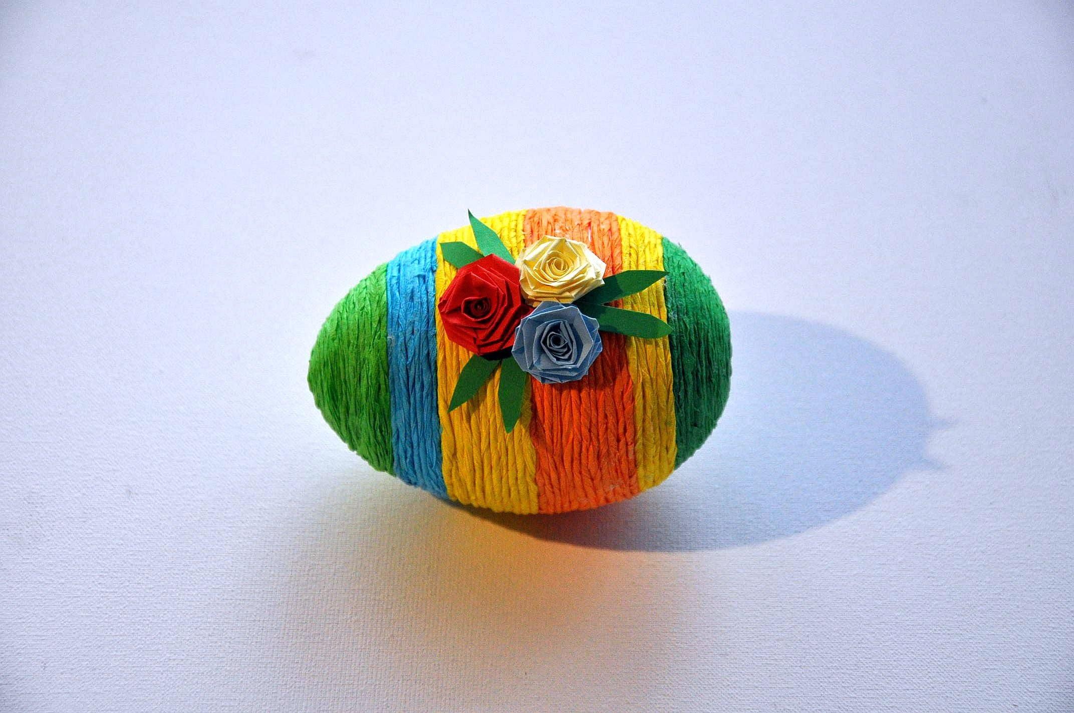 Pisanka z bibuły krok po kroku # Easter egg  DIY