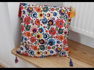DIY Jak zrobić frędzel i poduszka w ludowe wzory