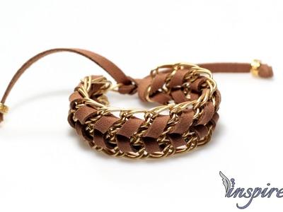Jak zrobić bransoletkę z łańcuszków i rzemyka