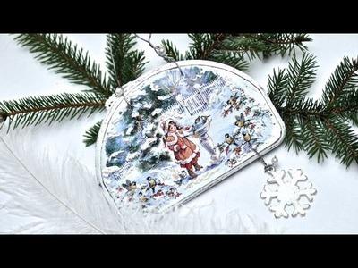Decoupage - świąteczny obrazek