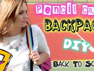 DIY Back To school PLECAK I PIÓRNIK Backpack pencilcase ❤ TheAmmisu. Beatinix