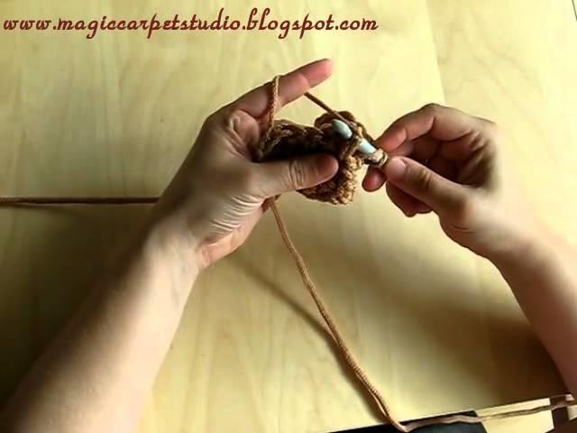 Front-post double crochet, czyli słupek przednio-nóżkowy