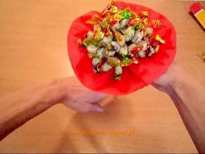 Jak zrobić bukiet z cukierków, krok po kroku