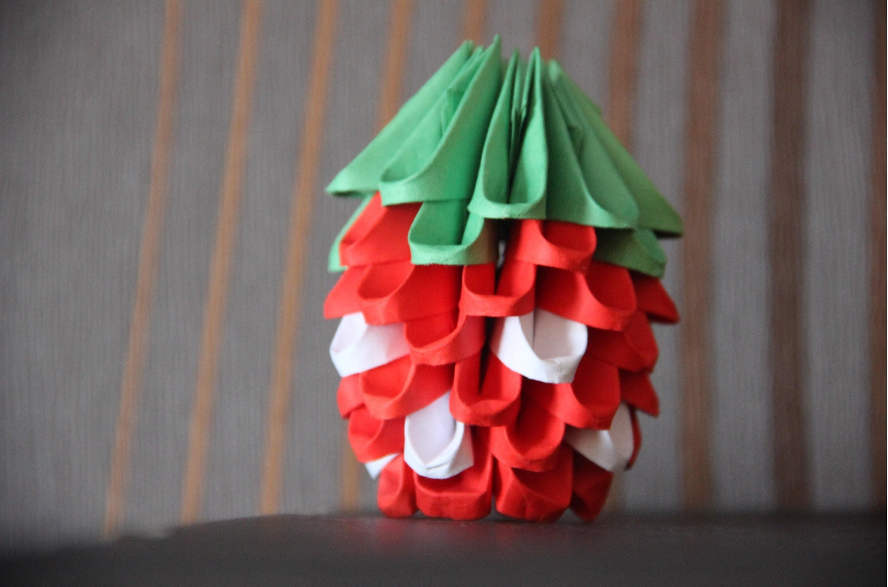 #5 Truskawka - origami modułowe