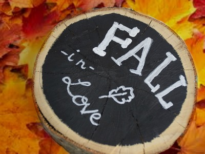 DIY FALL ROOM DECOR 2015! Golden pumpkin, Jar full of fall , wood