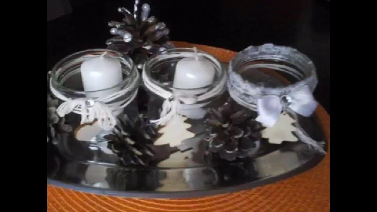 DIY jak zrobić dekoracje na Boże Narodzenie ,świeczniki, ozdoby