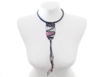 Naszyjnik makrama z koralikami w stylu boho - kurs biżuterii DIY