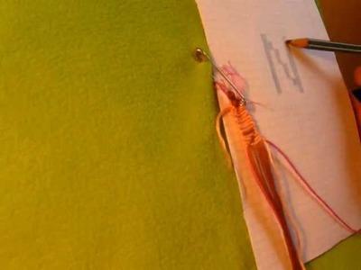 """Jak zrobić bransoletkę z muliny - bransoletka z napisem na przykładzie litery """"N"""""""
