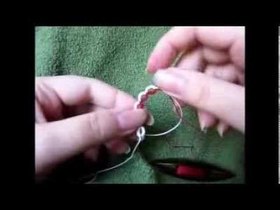 Maranta i frywolitki - frywolitkowe kółeczka gęsiego czyli split rings